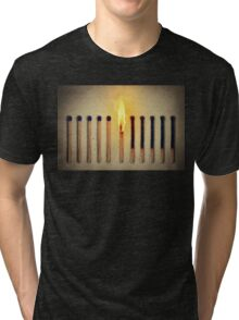 burning alone Tri-blend T-Shirt