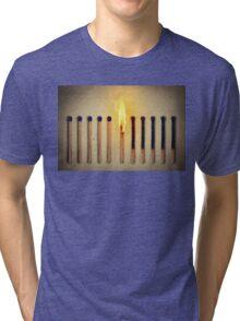 burning alone Tri-blend T-Shirt