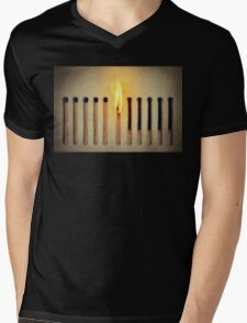 burning alone Mens V-Neck T-Shirt