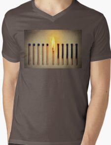 burning alone Mens V-Neck T-Shirt