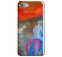 """""""Nude rider"""", riding off into the sunset . iPhone Case/Skin"""