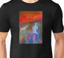 """""""Nude rider"""", riding off into the sunset . Unisex T-Shirt"""