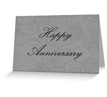 Anniversary Swirls Greeting Card
