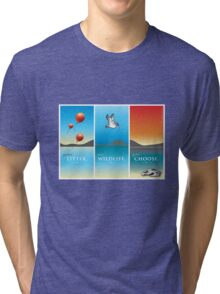 Pelican balloon graphic Tri-blend T-Shirt