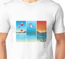 Pelican balloon graphic Unisex T-Shirt