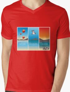 Pelican balloon graphic Mens V-Neck T-Shirt