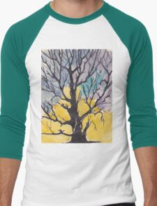A bird with a song  on a branch of me Men's Baseball ¾ T-Shirt