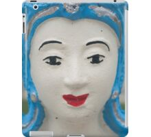 Cyan temple sculpture, Pai, Thailand iPad Case/Skin