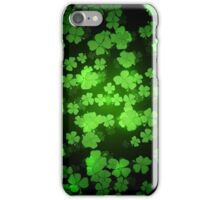 St Patricks day green background iPhone Case/Skin