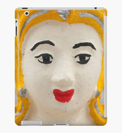 Yellow temple sculpture, Pai, Thailand iPad Case/Skin