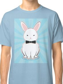 White Bunny with Bow Classic T-Shirt