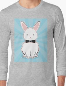 White Bunny with Bow Long Sleeve T-Shirt