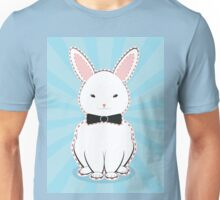 White Bunny with Bow Unisex T-Shirt