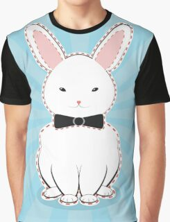 White Bunny with Bow Graphic T-Shirt