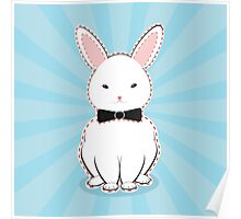 White Bunny with Bow Poster