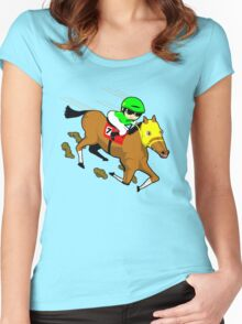 Horse racing  Women's Fitted Scoop T-Shirt