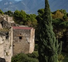 A Fine Italian Afternoon - Ancient Pompeii Ruins From a Verdant Park Sticker