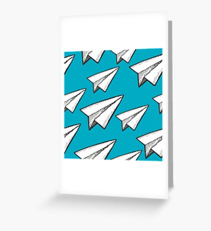 paper planes pattern Greeting Card