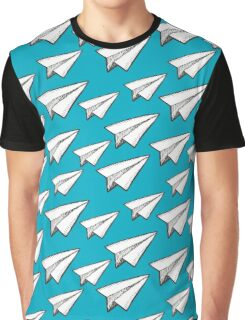 paper planes pattern Graphic T-Shirt