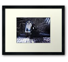 Haunted Interior and Ghost Framed Print