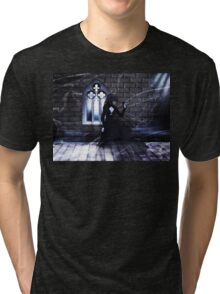 Haunted Interior and Ghost Tri-blend T-Shirt
