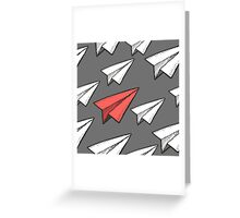 Flying paper planes pattern Greeting Card