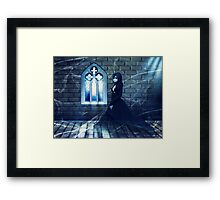 Haunted Interior and Ghost 2 Framed Print