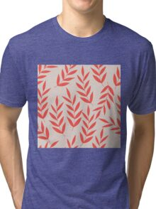 Red branches pastel pattern Tri-blend T-Shirt