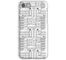 Background with monochrome houses iPhone Case/Skin