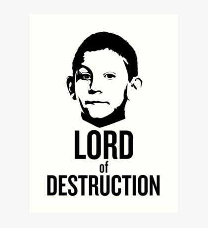 Dewey Malcolm in The Middle Lord of Destruction Art Print