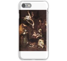 Michelangelo Merisi da Caravaggio - Nativity with St Francis and St Lawrence,  iPhone Case/Skin