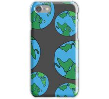 Planet earth seamless pattern iPhone Case/Skin