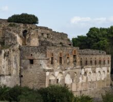 A Peaceful Italian Afternoon - Ancient Pompeii Ruins From a Verdant Park Sticker