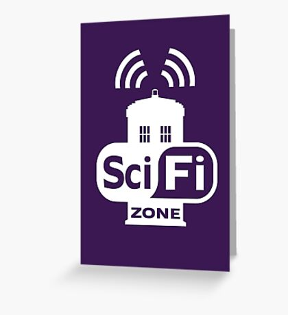 Sci-Fi ZONE White Greeting Card