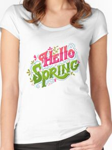 Hello spring Women's Fitted Scoop T-Shirt