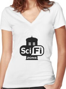 Sci Fi ZONE Women's Fitted V-Neck T-Shirt