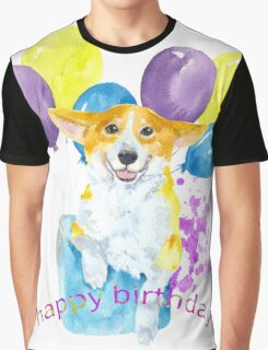 Dog and balloons Graphic T-Shirt