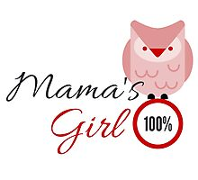 100 % Mama's girl- Red Owl Photographic Print