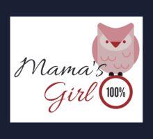 100 % Mama's girl- Red Owl Kids Tee
