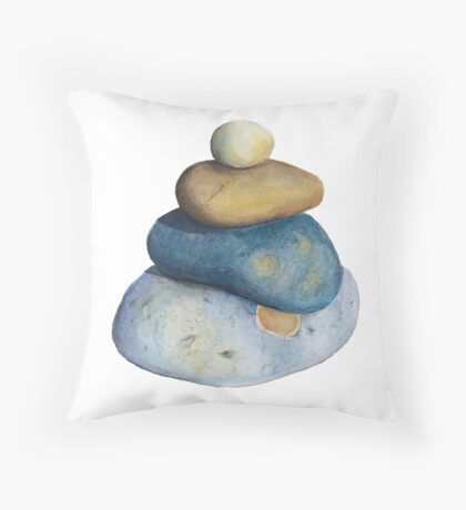 The Perfect Pebble Pile Throw Pillow