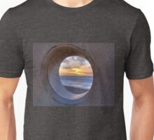 Sunset through Concret Portal Unisex T-Shirt