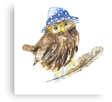 Owl hipster.  Canvas Print