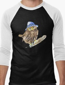 Owl hipster.  Men's Baseball ¾ T-Shirt