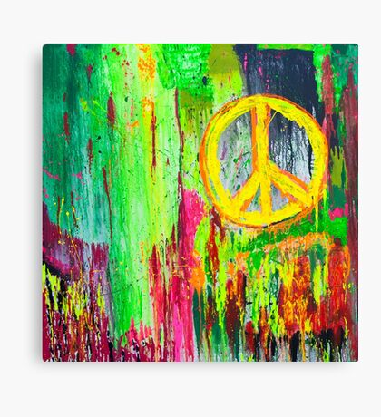 Peace in Times Square Canvas Print