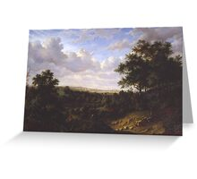 Patrick Nasmyth - View on the Thames, Greenwich in the Distance Greeting Card