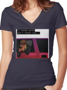 IF YOUNG METRO DON'T TRUST YOU - FUTURE Women's Fitted V-Neck T-Shirt
