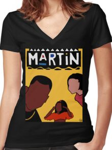 Martin (Yellow) Women's Fitted V-Neck T-Shirt