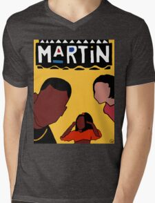 Martin (Yellow) Mens V-Neck T-Shirt