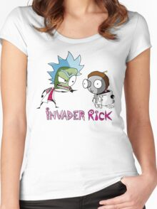 invader rick Women's Fitted Scoop T-Shirt