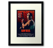 Arnold Schwarzenegger - Raw Deal Polar Framed Print